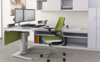 sit stand workstation Systems Office Furniture