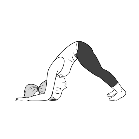 Dolphin pose for tight shoulders