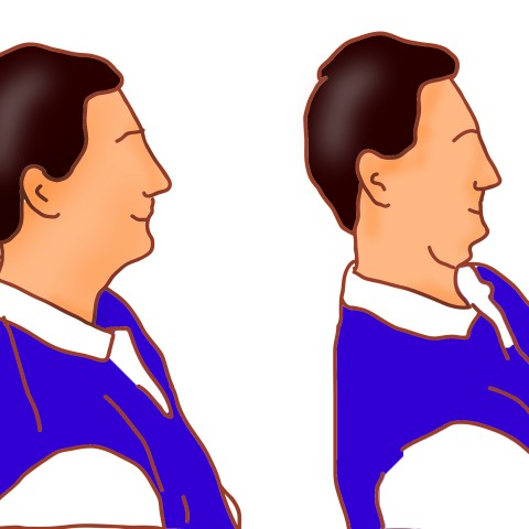 Simple sitting exercise for neck pain