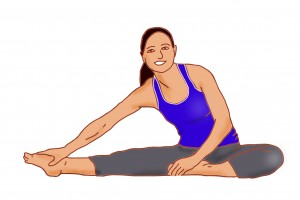 Hamstring and groin stretch for low back pain