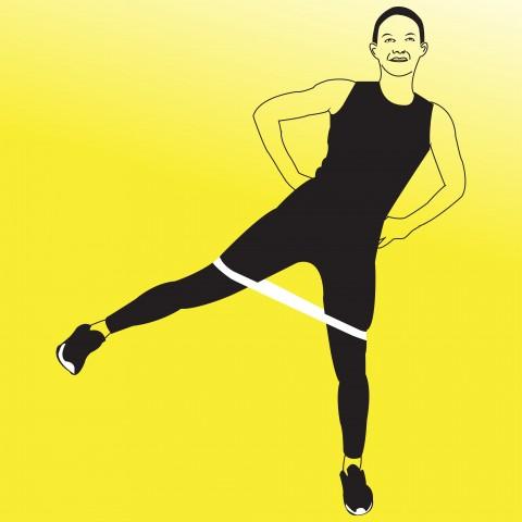 standing hip strengthening exercise